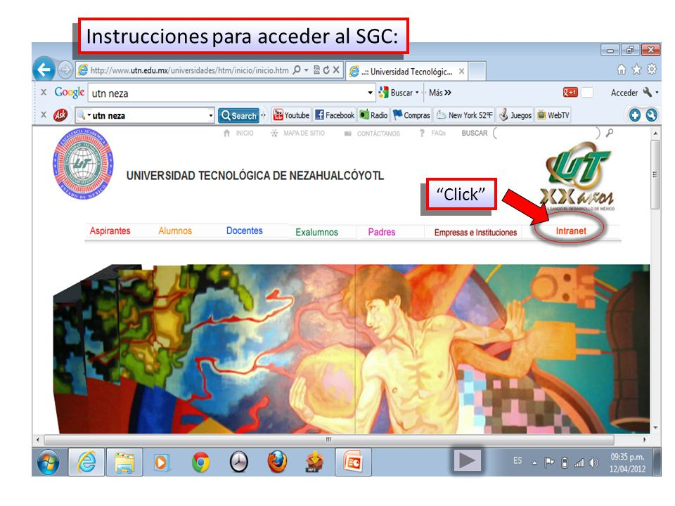 Instrucciones para acceder al SGC: