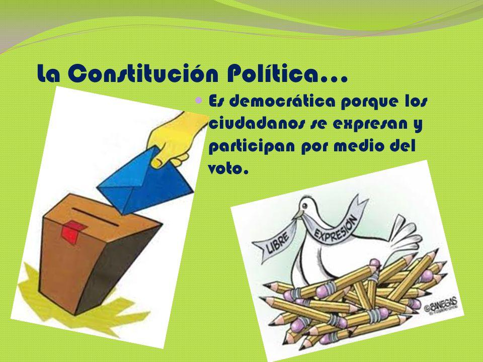La Constitución Política…