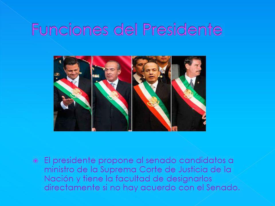 Funciones del Presidente