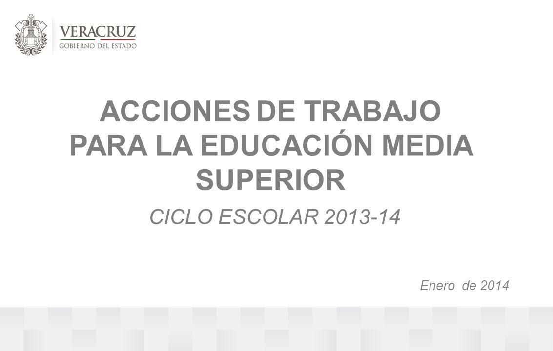 ACCIONES DE TRABAJO PARA LA EDUCACIÓN MEDIA SUPERIOR