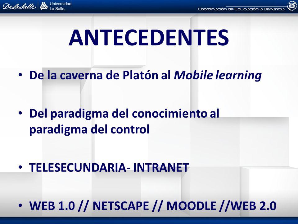 ANTECEDENTES De la caverna de Platón al Mobile learning