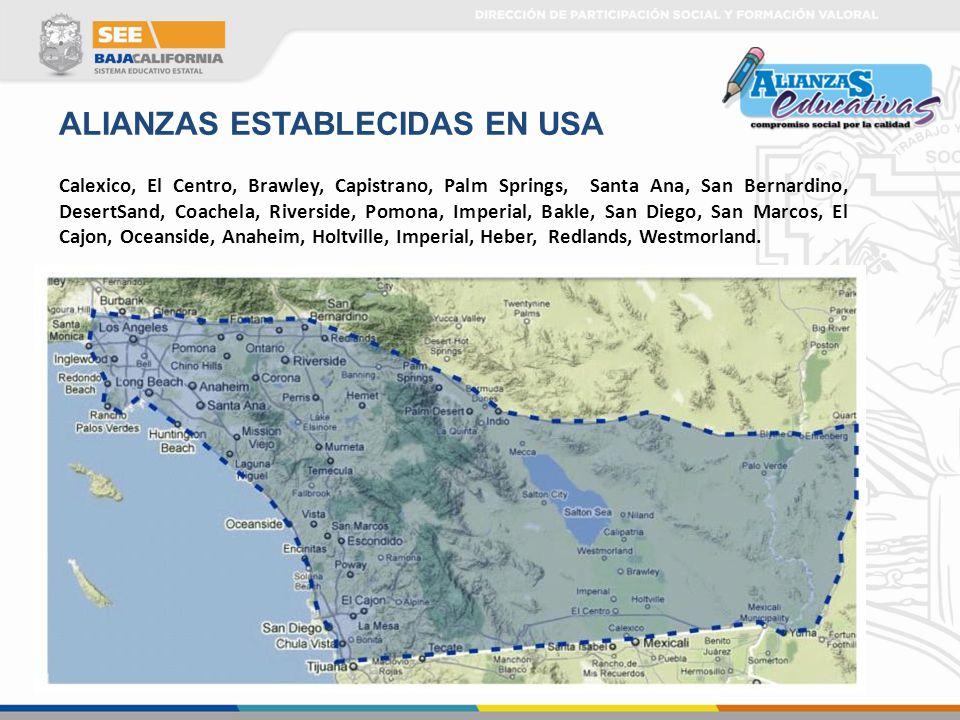 ALIANZAS ESTABLECIDAS EN USA
