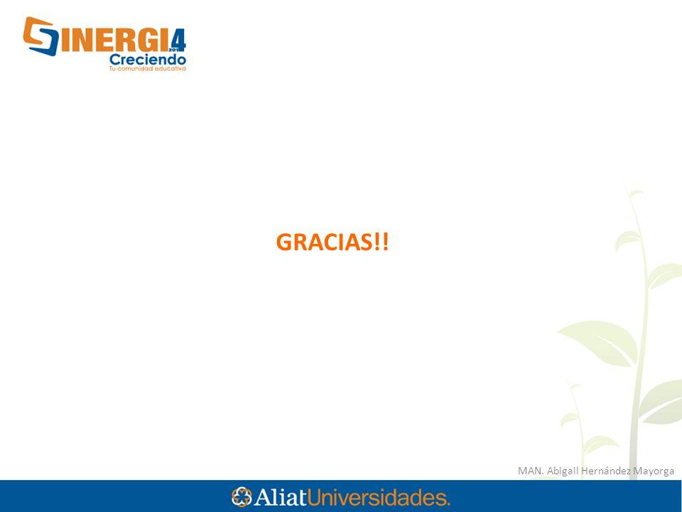 GRACIAS!! MAN. Abigail Hernández Mayorga