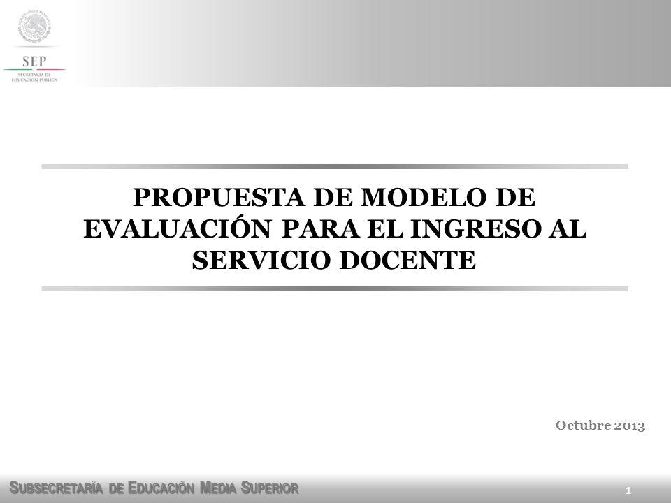PROPUESTA DE MODELO DE EVALUACIÓN PARA EL INGRESO AL SERVICIO DOCENTE