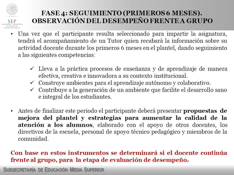 FASE 4: SEGUIMIENTO (PRIMEROS 6 MESES).