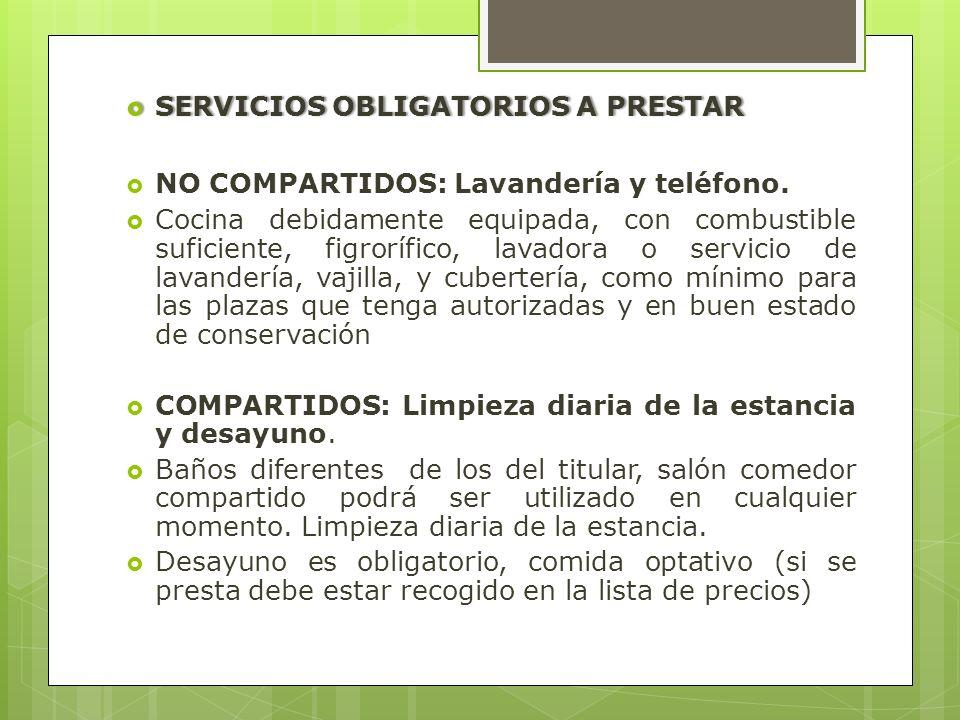 SERVICIOS OBLIGATORIOS A PRESTAR