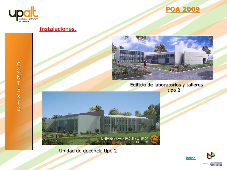 POA 2009 Instalaciones. C O N T E X