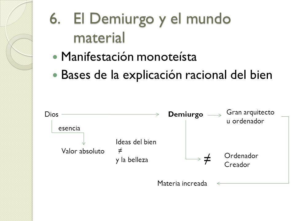 El Demiurgo y el mundo material