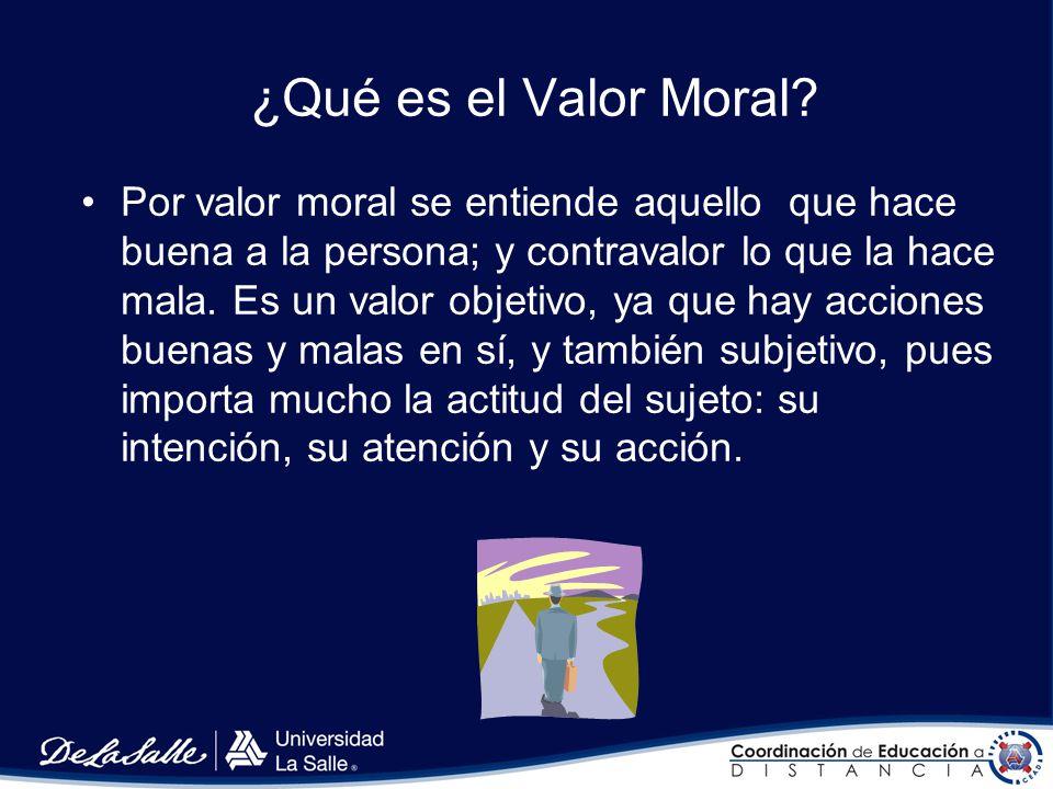 ¿Qué es el Valor Moral