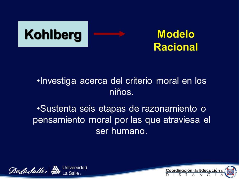 Investiga acerca del criterio moral en los niños.
