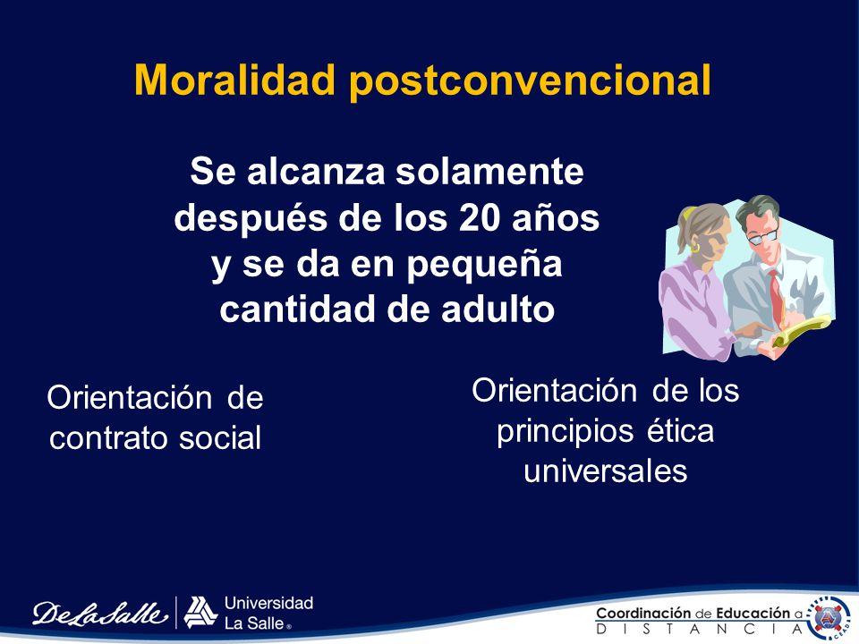 Moralidad postconvencional