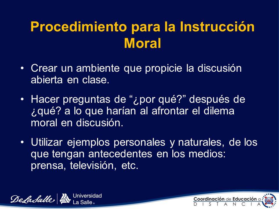 Procedimiento para la Instrucción Moral
