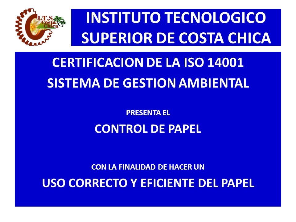 INSTITUTO TECNOLOGICO SUPERIOR DE COSTA CHICA