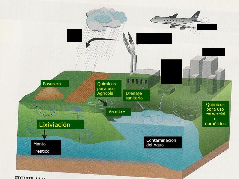 Lixiviación Ciudad Químicos para uso Agrícola Drenaje sanitario