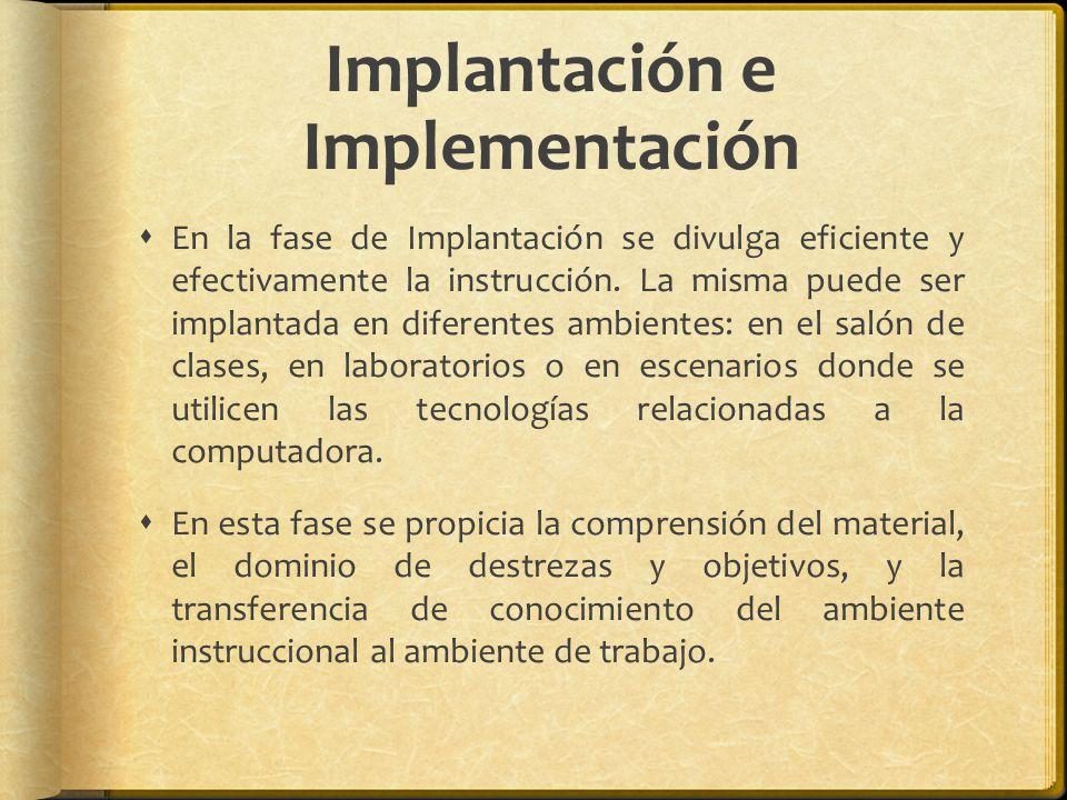 Implantación e Implementación