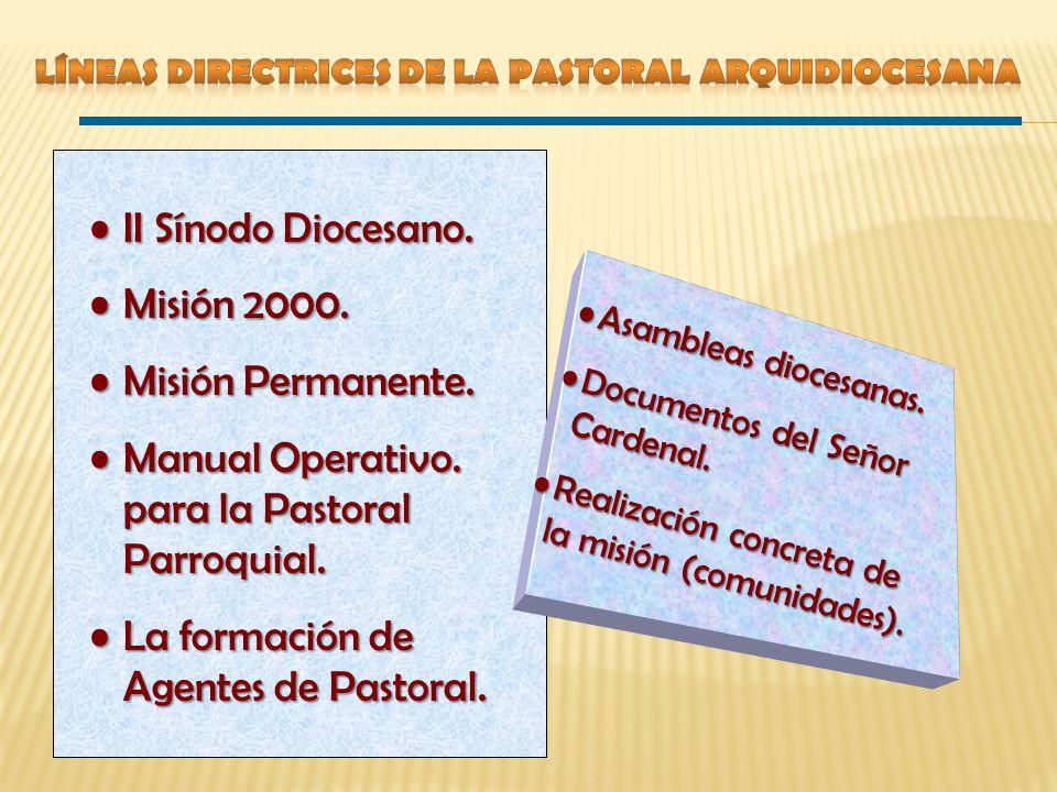 Manual Operativo. para la Pastoral Parroquial.