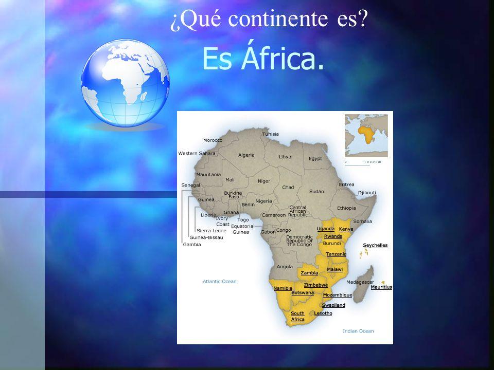 ¿Qué continente es Es África.