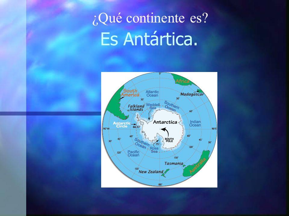 ¿Qué continente es Es Antártica.