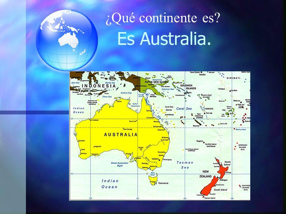 ¿Qué continente es Es Australia.