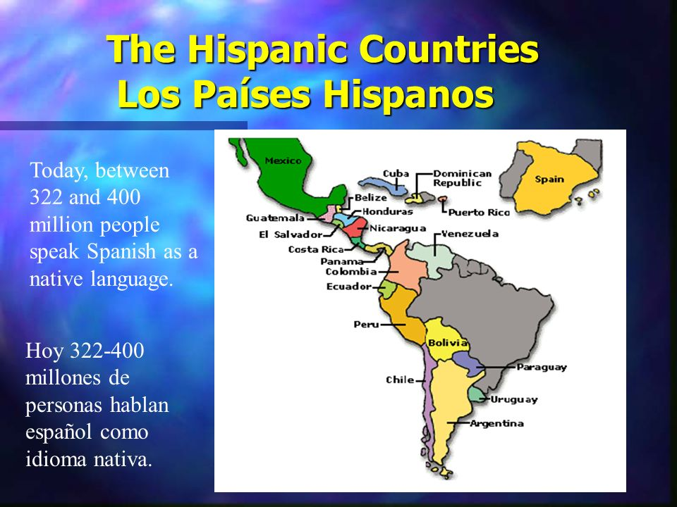 The Hispanic Countries Los Países Hispanos