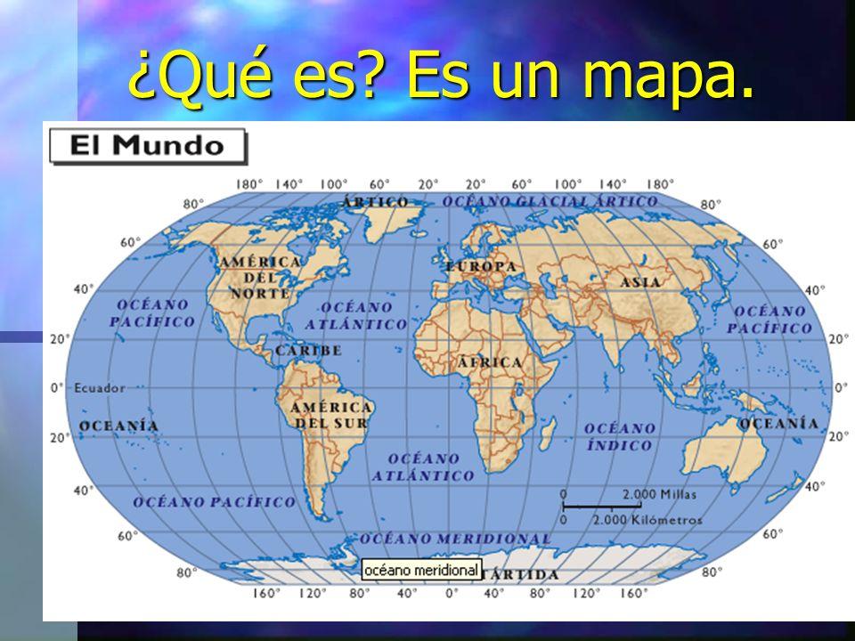 ¿Qué es Es un mapa.