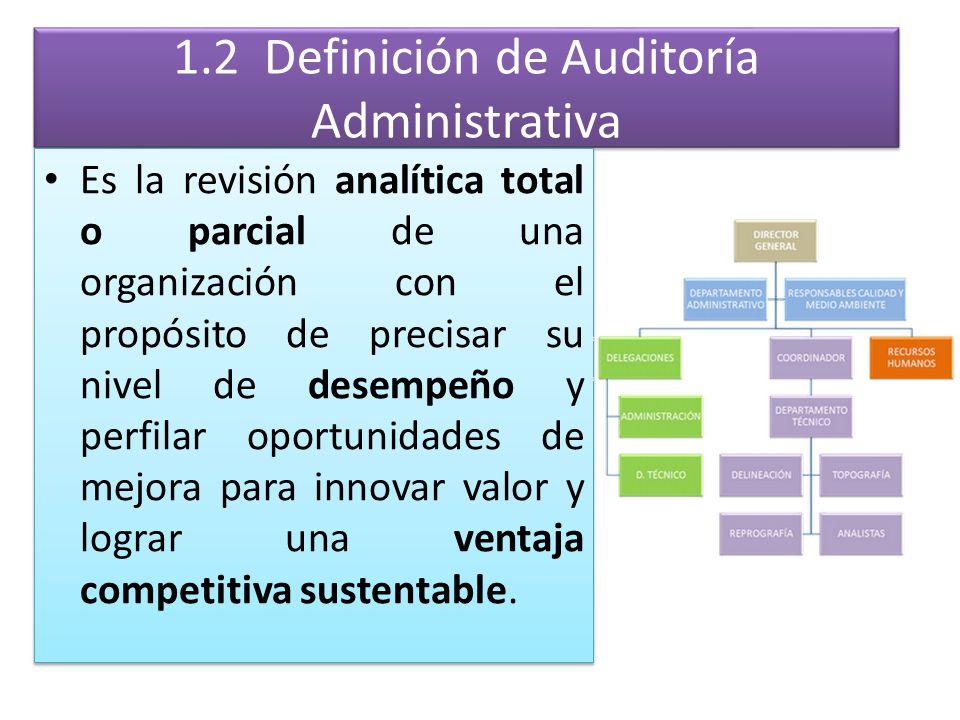 1.2 Definición de Auditoría Administrativa