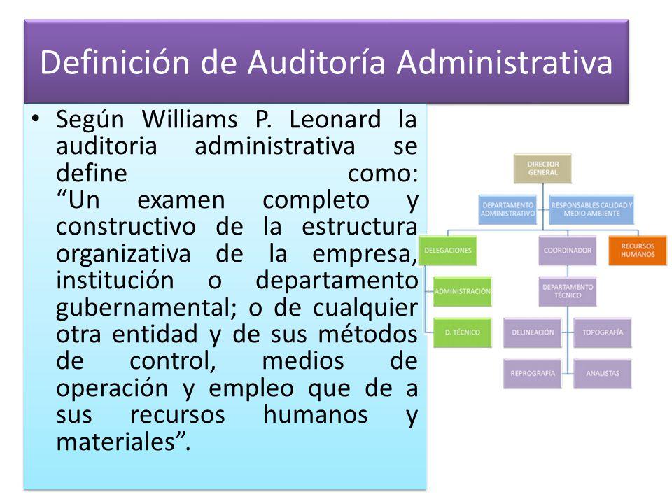 Definición de Auditoría Administrativa