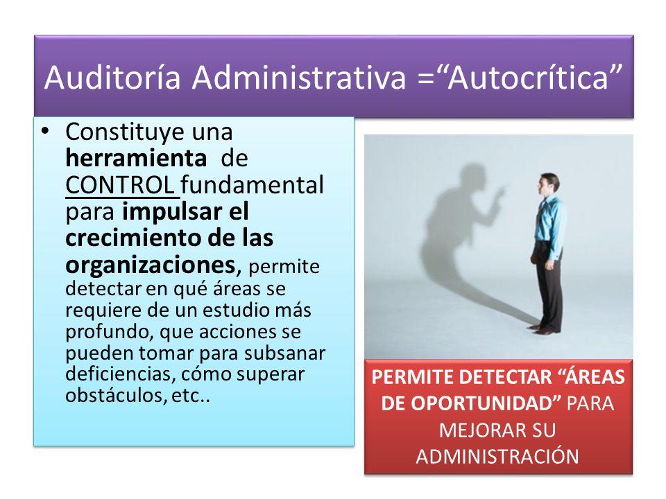 Auditoría Administrativa = Autocrítica