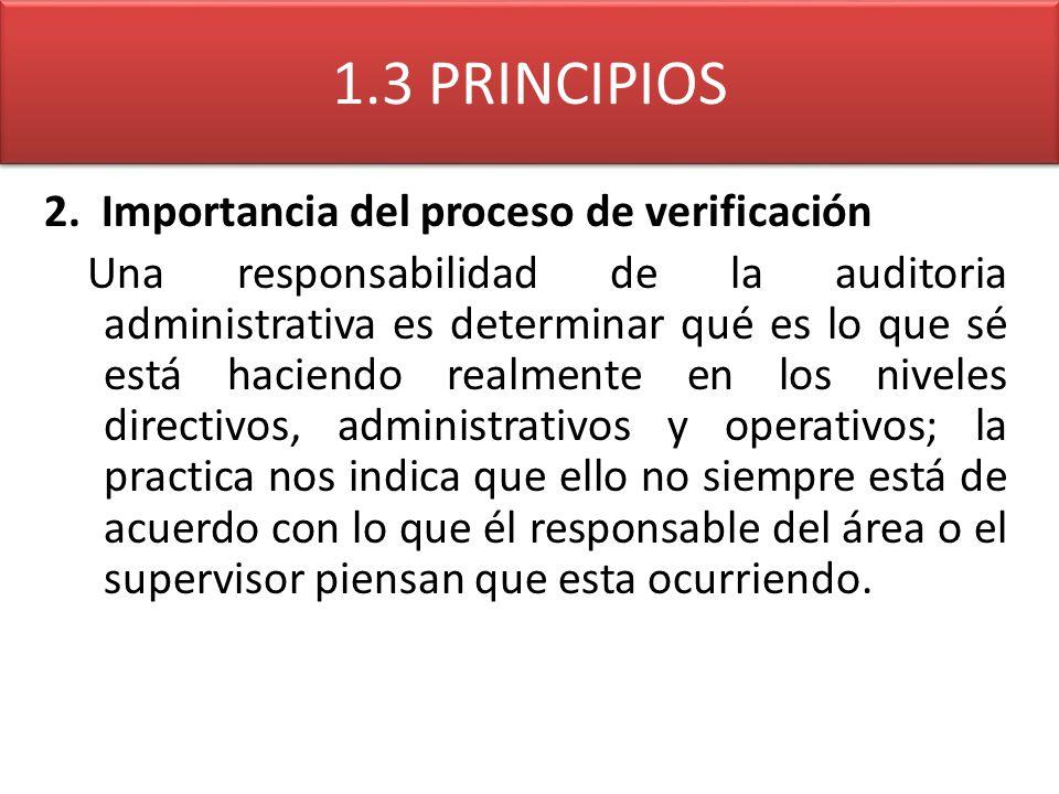 1.3 PRINCIPIOS 2. Importancia del proceso de verificación