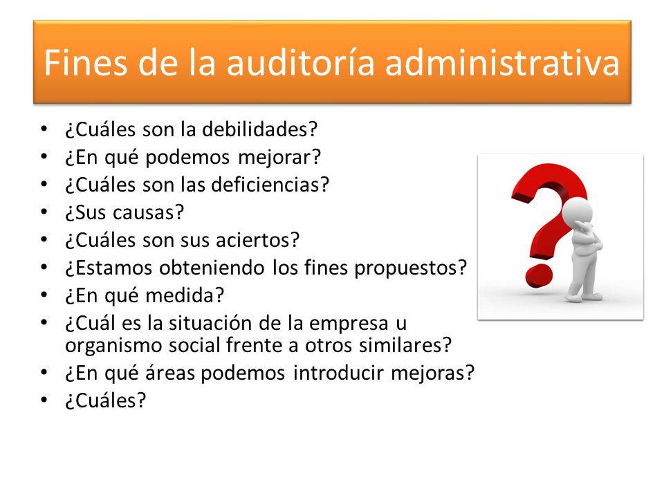 Fines de la auditoría administrativa