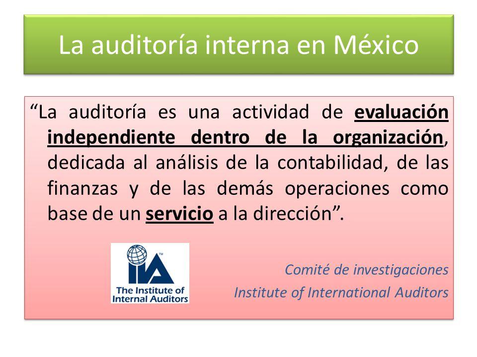 La auditoría interna en México