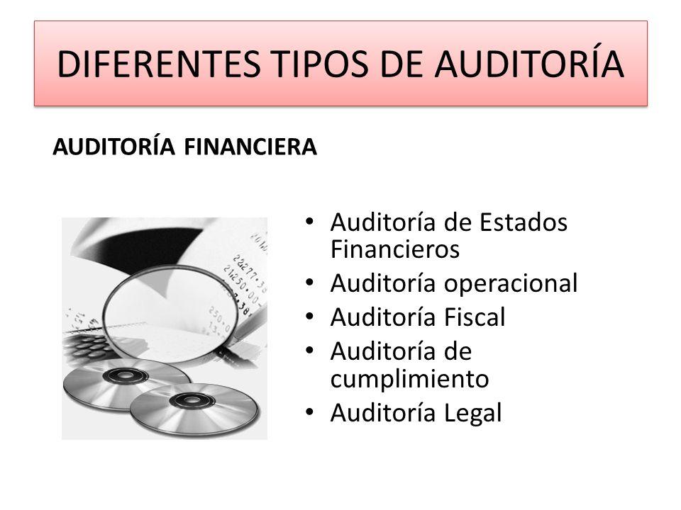 DIFERENTES TIPOS DE AUDITORÍA