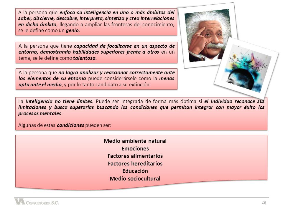 Medio ambiente natural Factores alimentarios Factores hereditarios