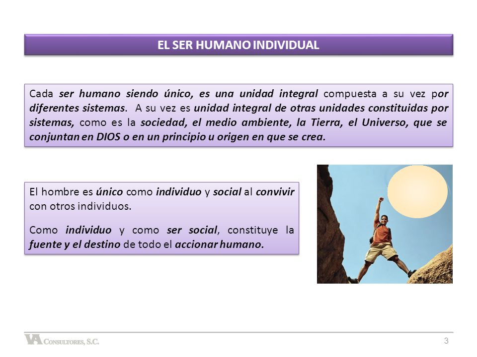 EL SER HUMANO INDIVIDUAL