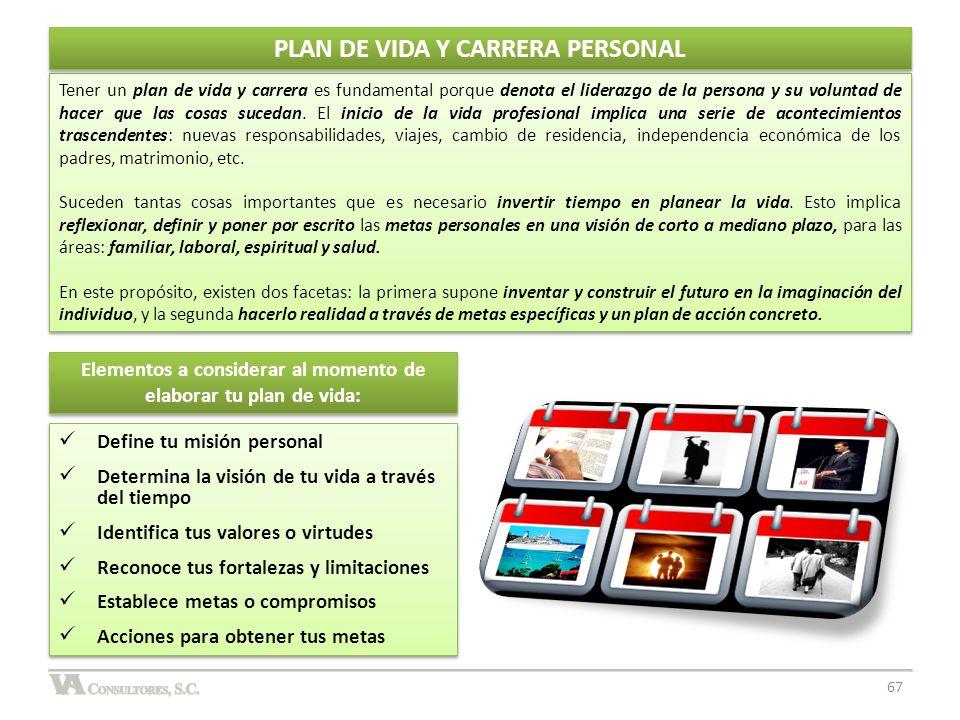 PLAN DE VIDA Y CARRERA PERSONAL