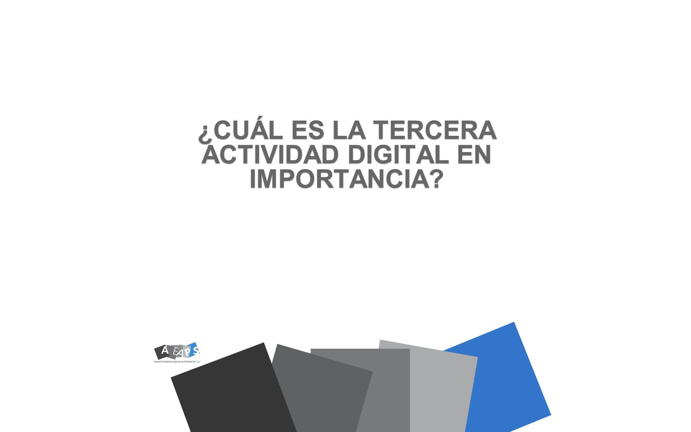 ¿CUÁL ES LA TERCERA ACTIVIDAD DIGITAL EN IMPORTANCIA