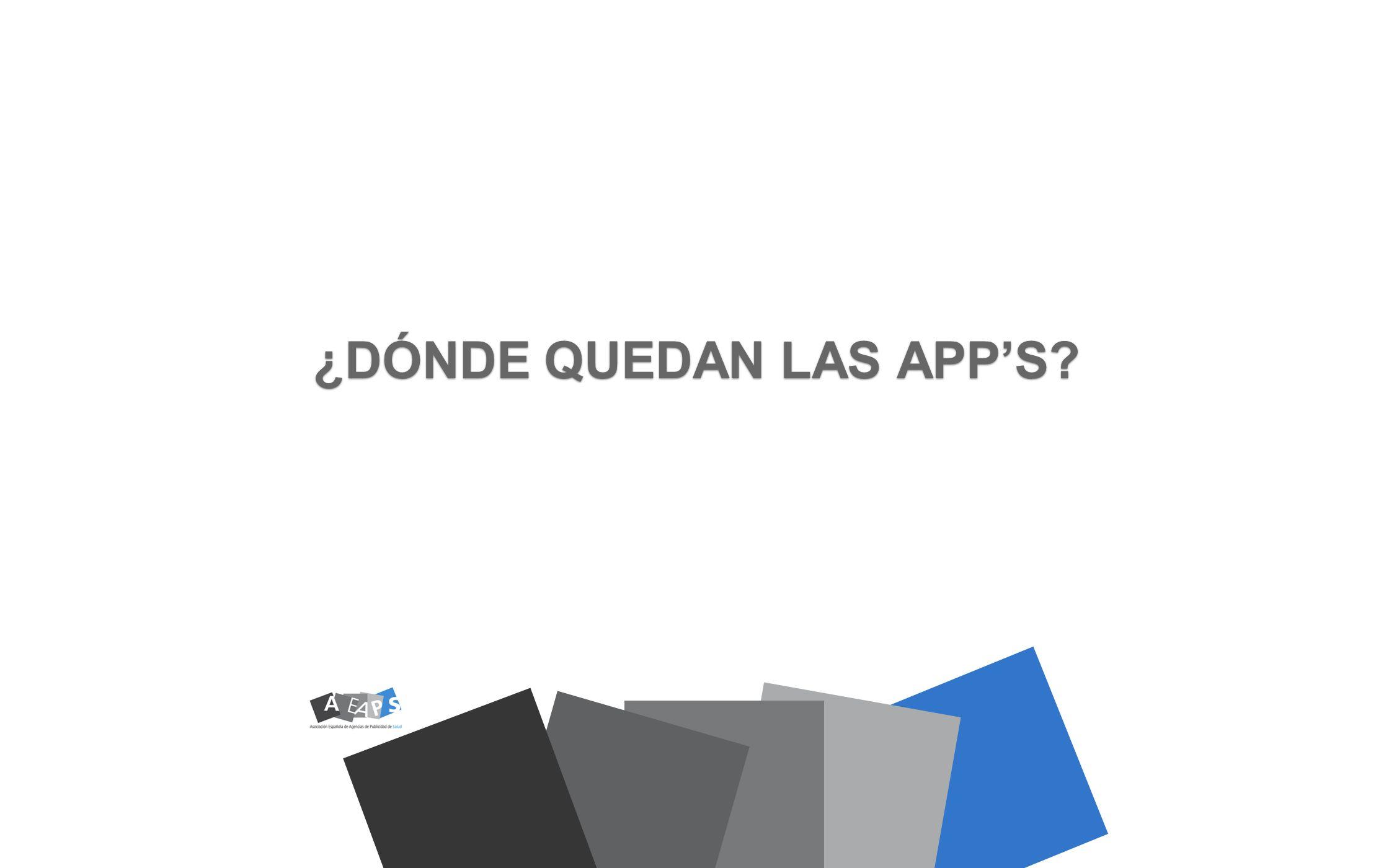 ¿DÓNDE QUEDAN LAS APP'S