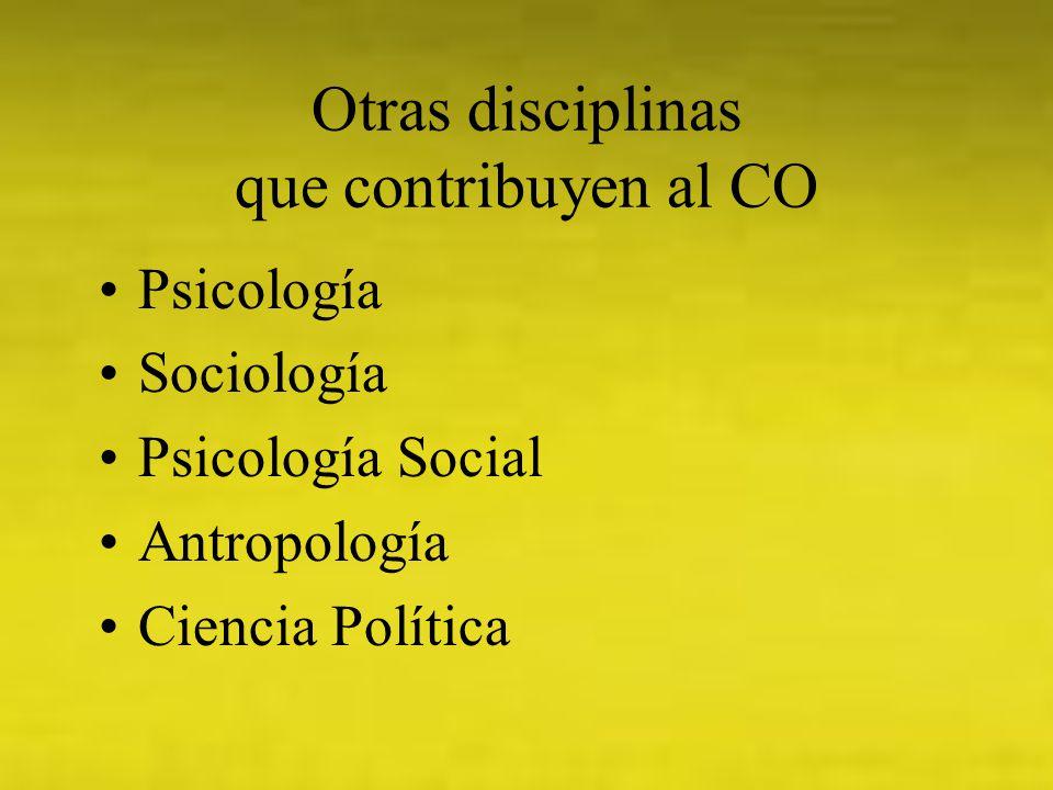 Otras disciplinas que contribuyen al CO