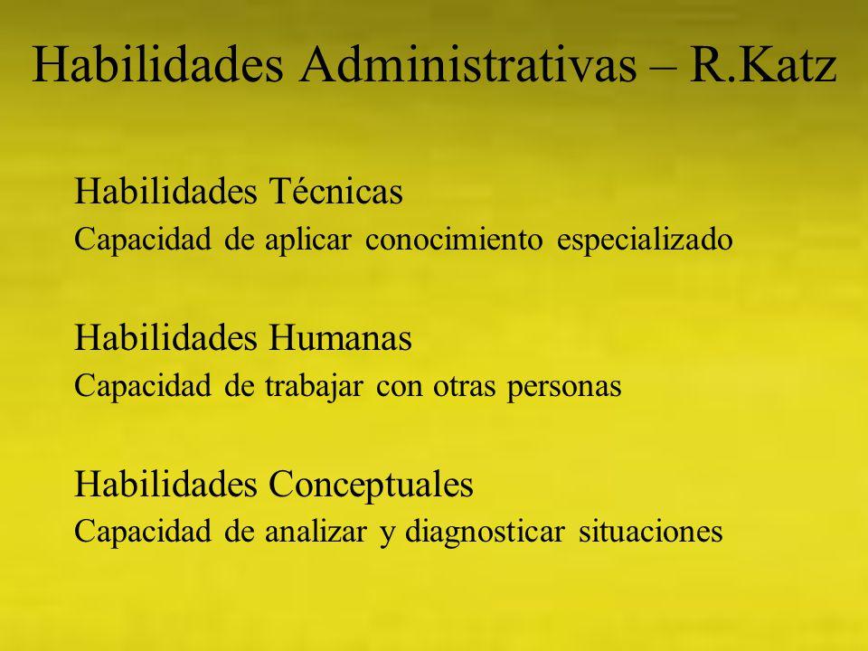Habilidades Administrativas – R.Katz