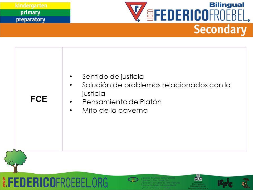 FCE Sentido de justicia Solución de problemas relacionados con la