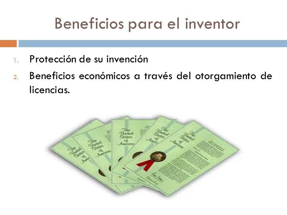 Beneficios para el inventor