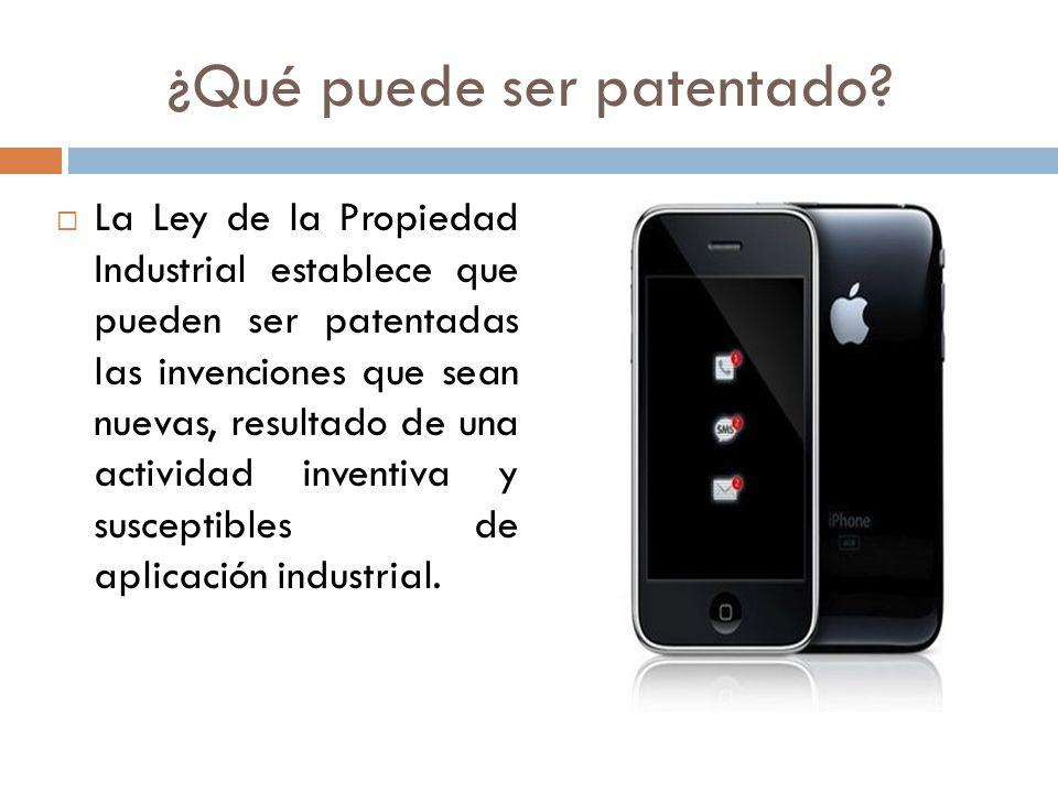 ¿Qué puede ser patentado