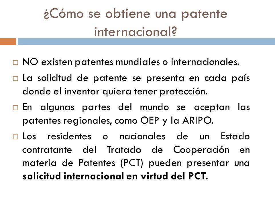 ¿Cómo se obtiene una patente internacional