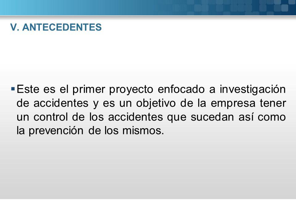 V. ANTECEDENTES