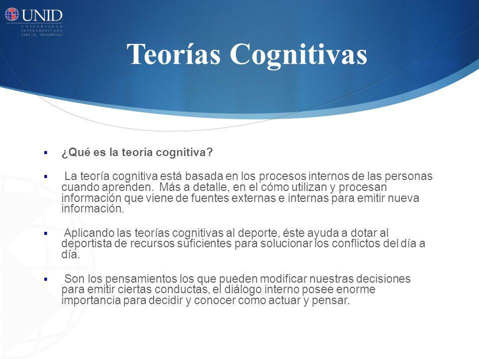 Teorías Cognitivas ¿Qué es la teoría cognitiva