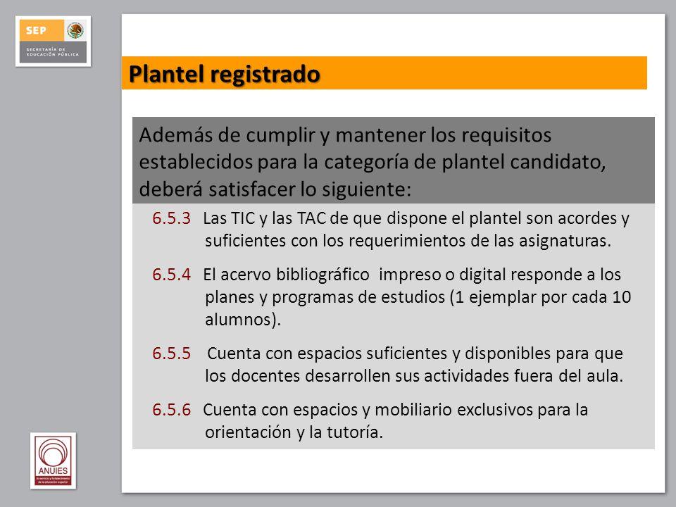 Plantel registrado