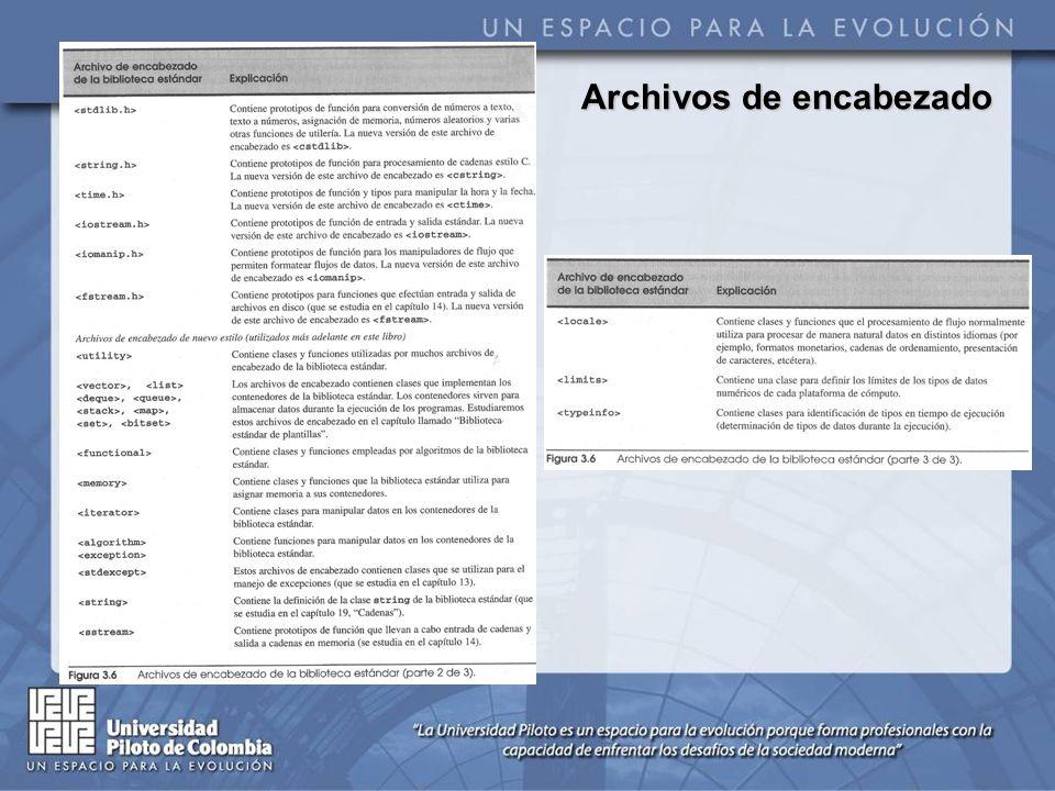 Archivos de encabezado