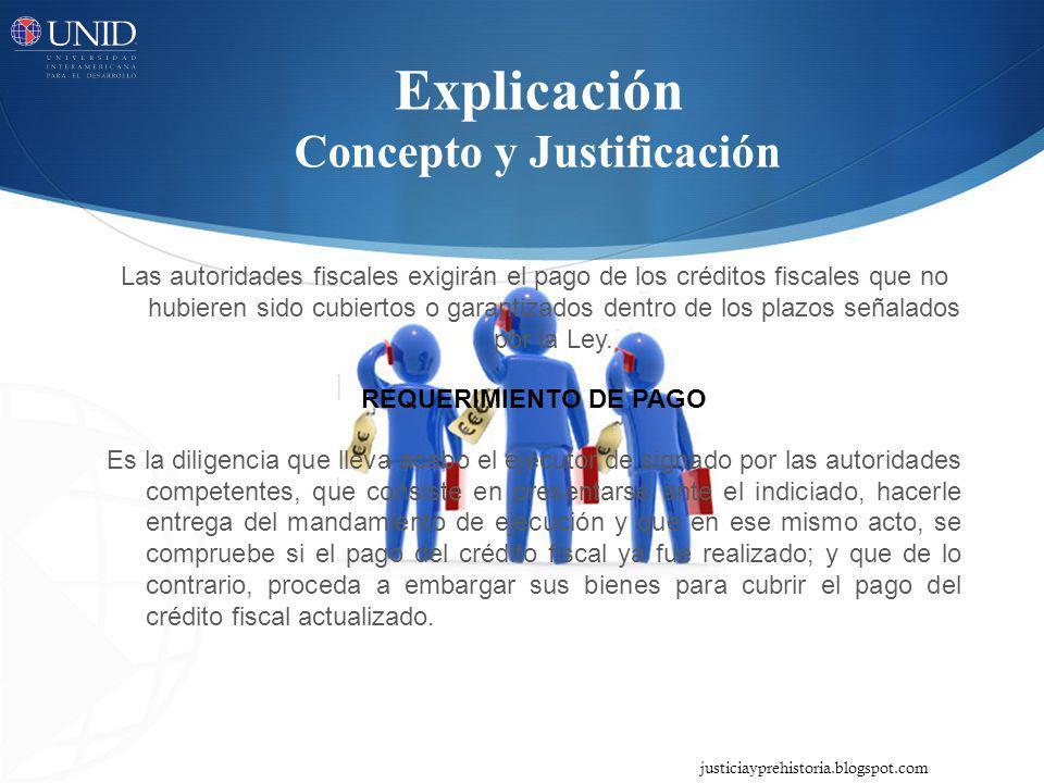 Explicación Concepto y Justificación