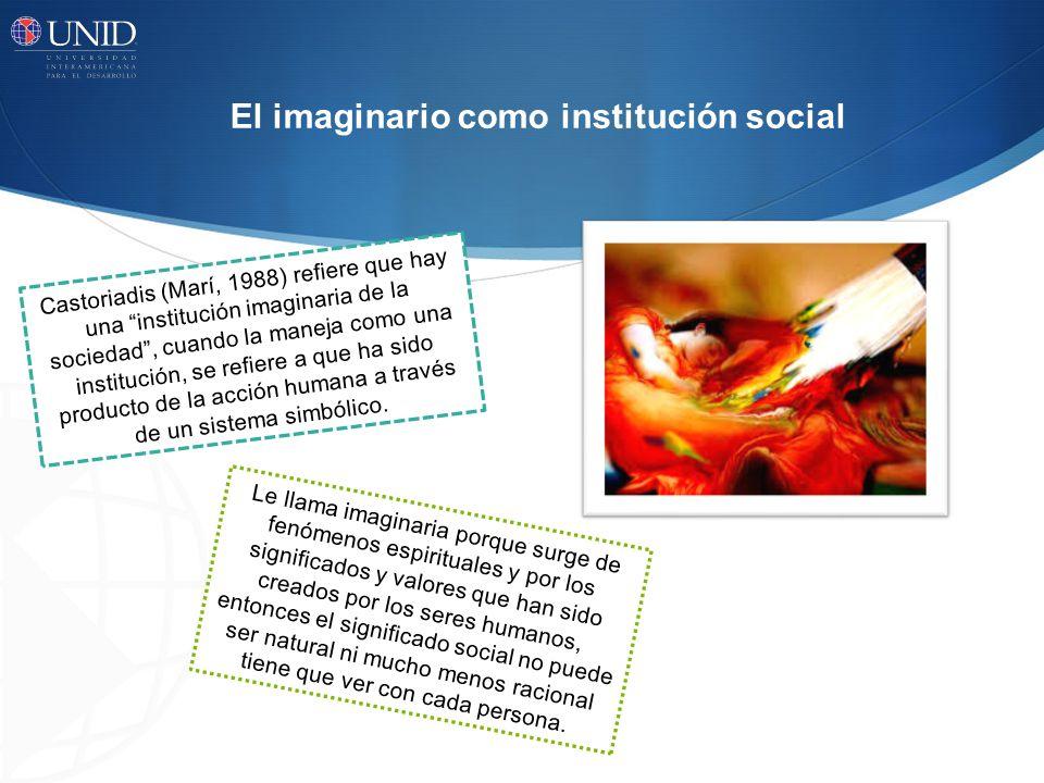 El imaginario como institución social