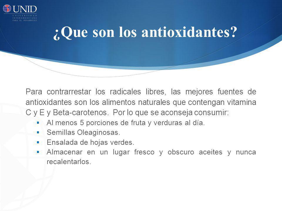 ¿Que son los antioxidantes